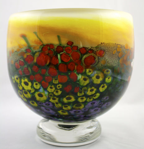 Shawn Messenger Fine Art Glass Landscape Series Bowl