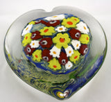 Shawn Messenger Fine Art Glass Heart Paper Weight