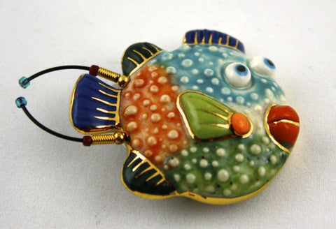Jewelry 10 Puffer Fish Pin