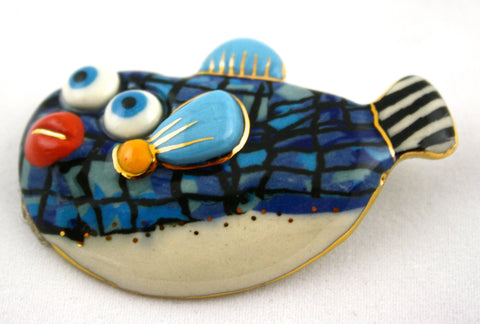 Jewelry 10 Box Fish Pin