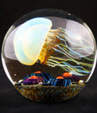 Satava Art Glass Side Swimmer Jellyfish
