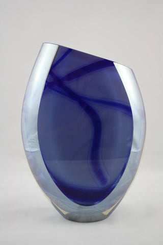 Edward Kachurik Art Glass Blue Chameleon