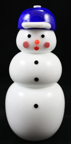 Vitrix Hot Glass Studio Baseball Hat Snowman