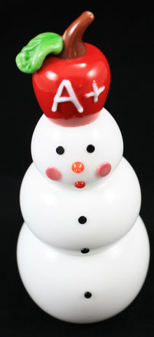 Vitrix Hot Glass Studio Apple Snowman