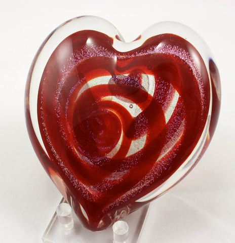 "Glass Eye Studio Hearts of Fire ""Scarlet"" Weight"