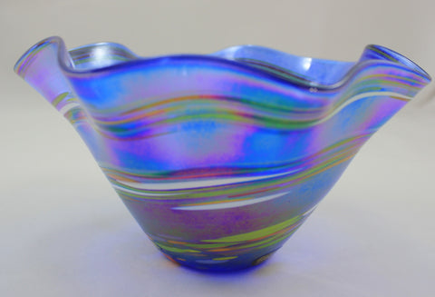 Glass Eye Studio Blue Rainbow Floppy Bowl