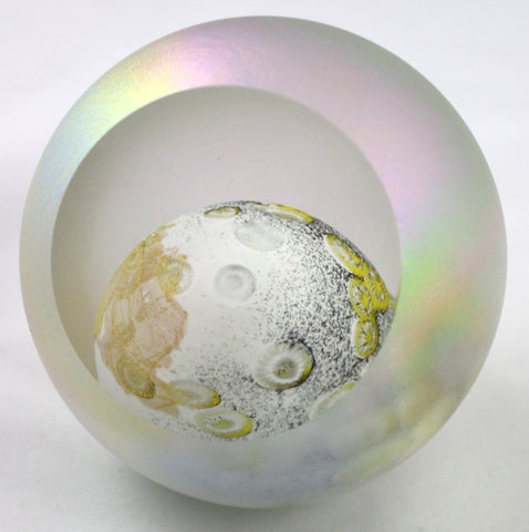Glass Eye Studio Moon Planet Paper Weight