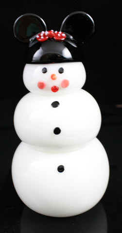 Vitrix Hot Glass Studio Minnie Snowman