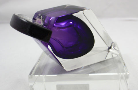 Correia Art Glass Lilac Side Wedge Perfume Bottle