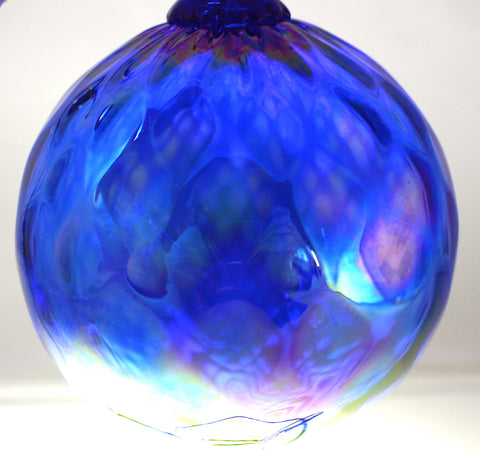 Glass Eye Studio Classic Ornament Cobalt Diamond Facet