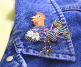 Jewelry 10 Chicken and Basket Pin