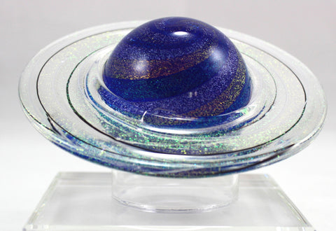 Glass Eye Studio Rings of Saturn Planet Paper Weight