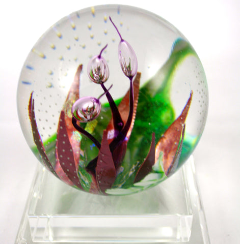 Glass Eye Studio Copper Blossom Paper Weight