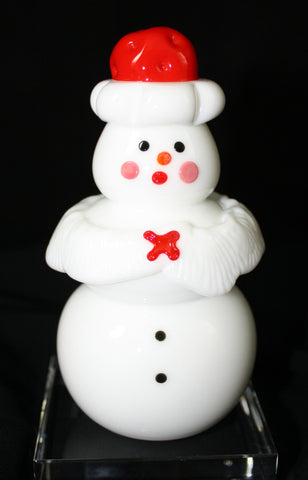 Vitrix Hot Glass Studio Ms Claus Snowman