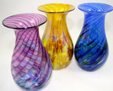 Glass Eye Studio Violet Chip Twist Raindrop Vase