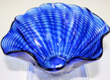 Glass Eye Studio Cobalt Ripple Mini Floppy Bowl