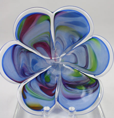 Glass Eye Studio Blue Affection Flower