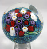 Shawn Messenger Fine Art Glass Large Flower Paperweight