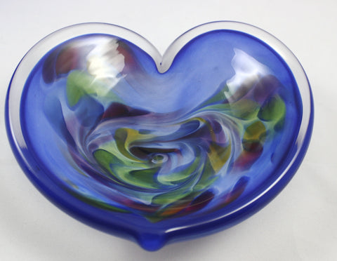 Glass Eye Studio Blue Affection Heart
