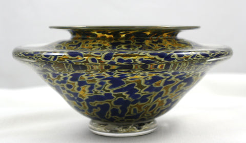 Gartner/Blade Art Glass Bowl for the art of Ikebana  Blue