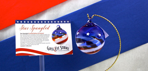 Glass Eye Studio Star Spangled Ornament