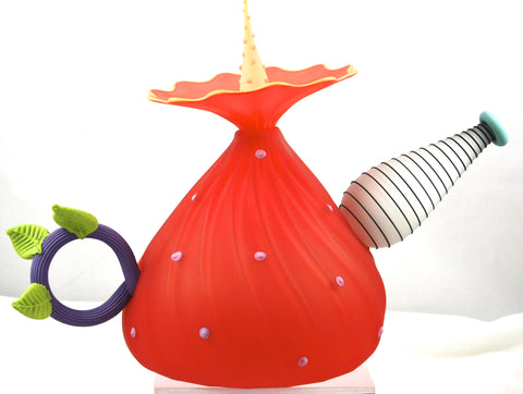 Kliszewski Art Glass Red Teapot BOBtanical