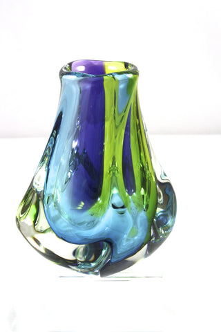 Harrie Art Glass Pacific Thick Vase