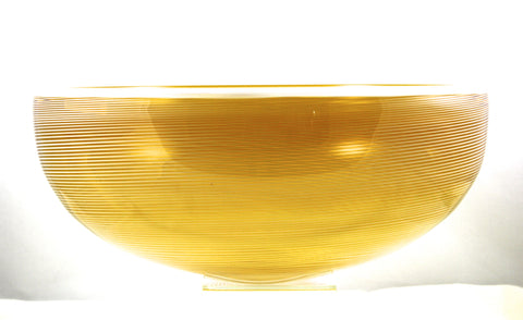 Chatham Glass Co. Large Yellow Jewel Turbini Bowl