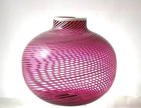 Chatham Glass Co. Ruby Turbini Large Vase
