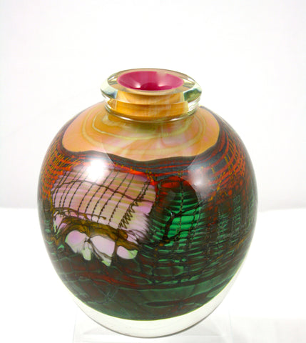 Steven Main Glass Studio Canyon Series Round Vase