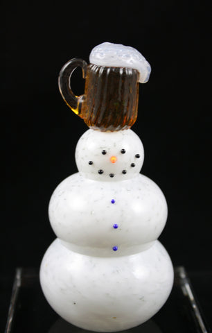 Thames Art Glass Foamy Snowman