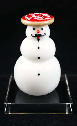 Vitrix Hot Glass Studio Pizza Snowman