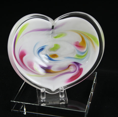 Glass Eye Studio White Affection Heart