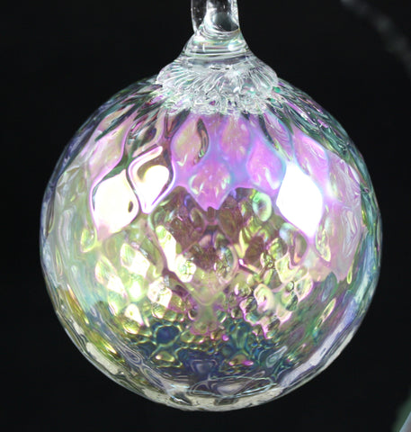 Glass Eye Studio Classic Ornament Clear Diamond Facet