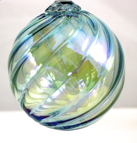 Glass Eye Studio Classic Ornament Aquamarine Twist