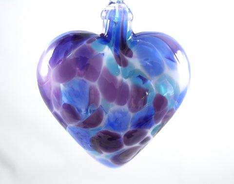 Glass Eye Studio Classic Violet Chip Heart Ornament