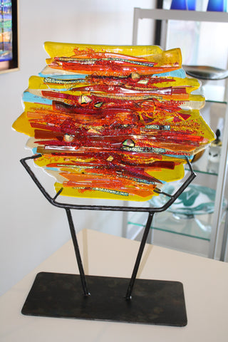 "Cathy Shepherd Glass ""Eternal Sunrise"""