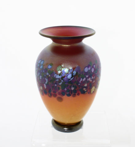 "Nourot Glass Studio ""C'ezanne"" Mini Red Vase"