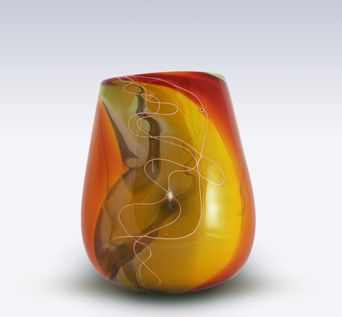 2400 Fahrenheit Art Glass Autumn Series Calabash Bowl