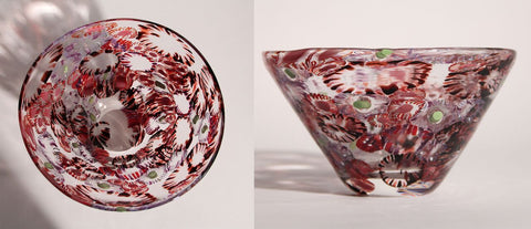 Simon Waranch Red Murrine Bowl
