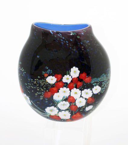 Shawn Messenger Fine Art Glass Large Flattened Vase