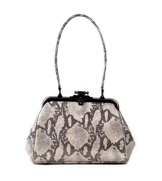 Metallic Snake Kiss Bag