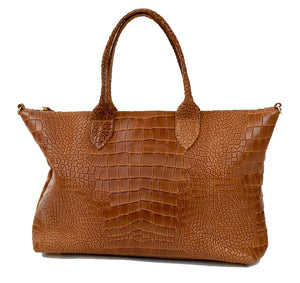 Brown Crocodile Tote