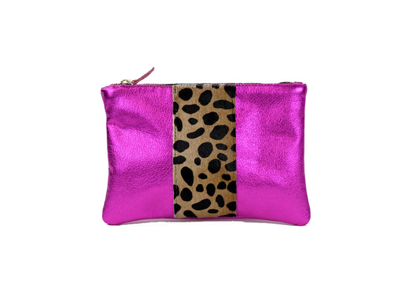 Flat Small Clutch in Fuchsia