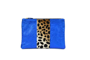 Flat Small Clutch in Royal Blue