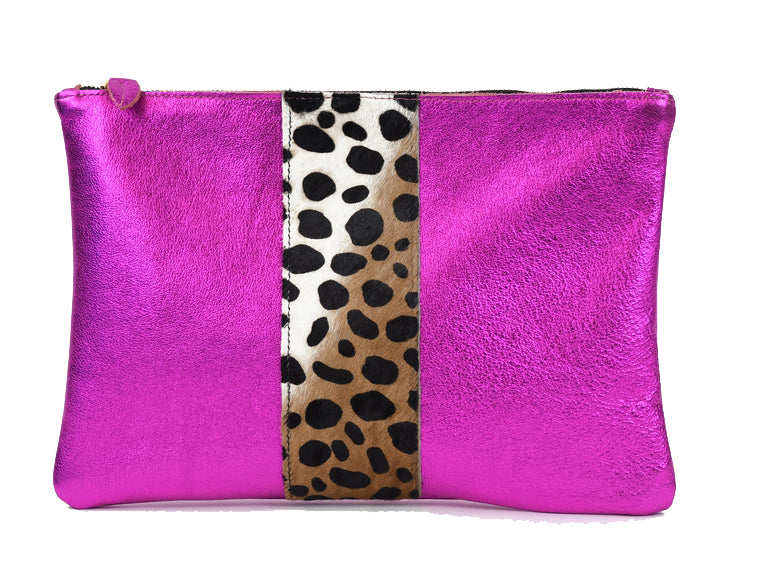 Flat Clutch in Fuchsia