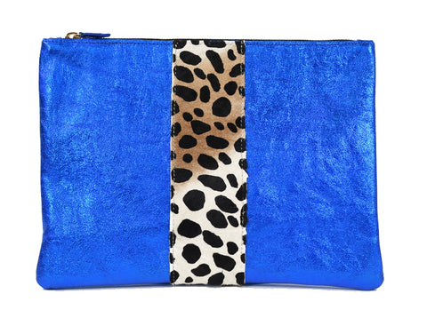 Flat Clutch in Royal Blue