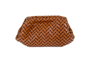 Clam Clutch in Brown