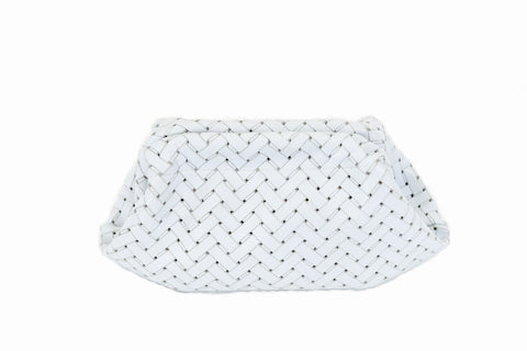 Clam Clutch in White