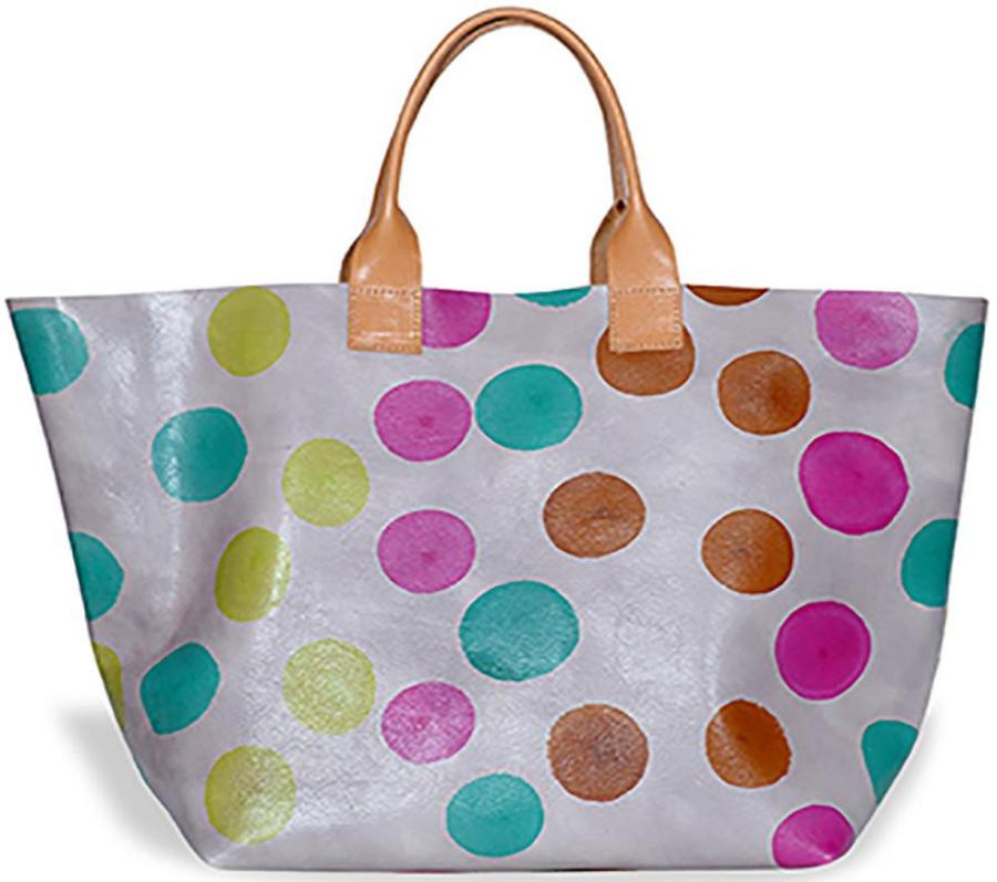 Hand Painted Dots Tote